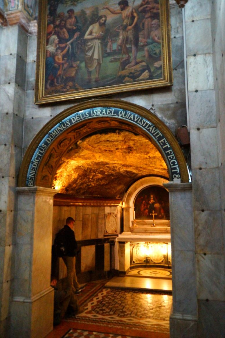 Praying at Birthplace of John the Baptist
